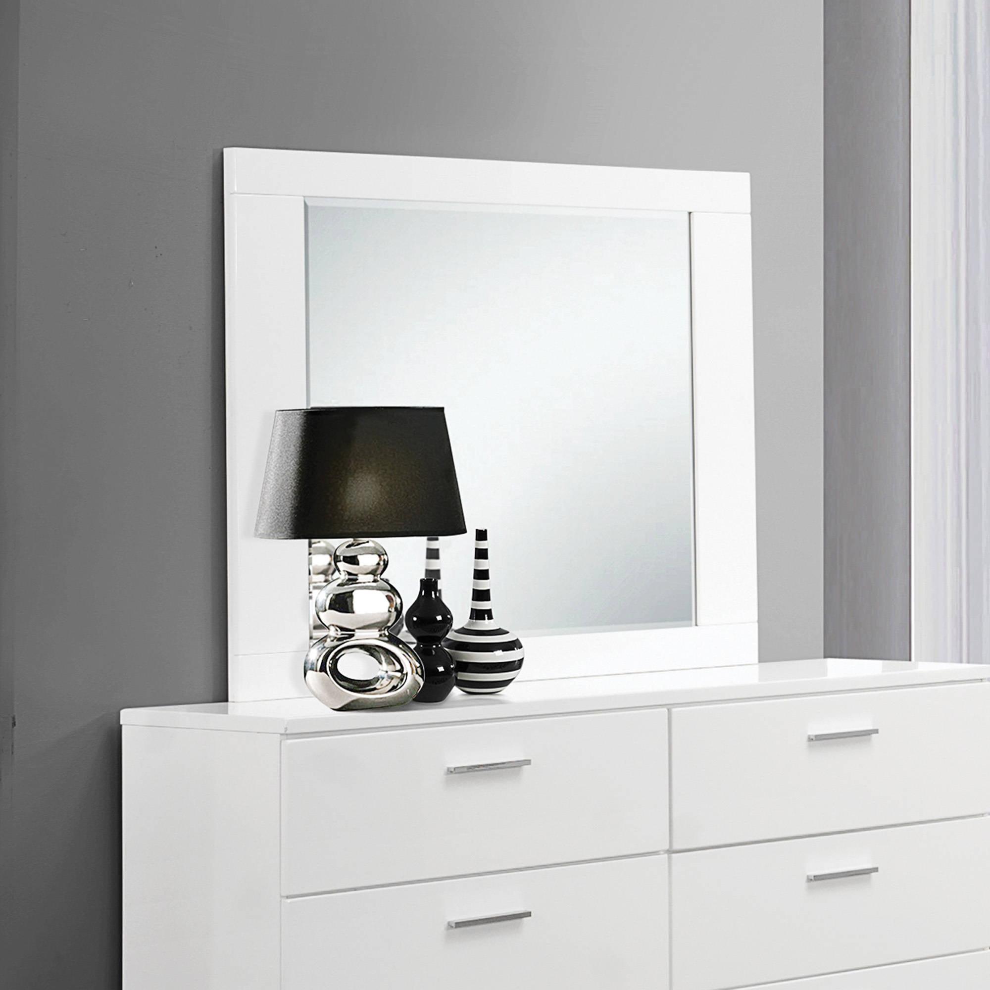 Coaster Company Felicity Collection Mirror, White