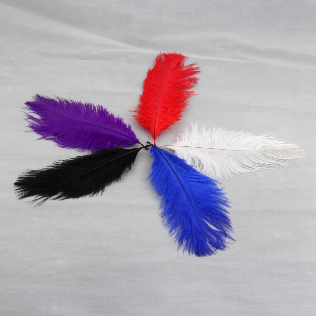Colorful High Quality Natural Ostrich Feathers Fit XMAS Wedding Decoration On Promotion