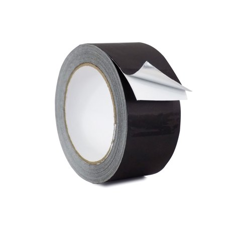 WOD AF-20A-B Black Matte Aluminum Foil Tape General Purpose Non Reflective Hot & Cold Shield Resistant - Good for HVAC, Air Ducts, Insulation, Metal Repair: 2 in. x 27 yds.