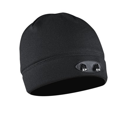 Powercap 3555 Compression Fleece Beanie Hat With Led Lights  Black