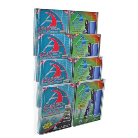 Azar 252322 Eight-Pocket Letter Wall Mount Brochure Holder - Walmart.com
