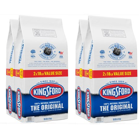 (4 pack) Kingsford Original Charcoal Briquettes, BBQ Charcoal for Grilling - 18 Pounds Each