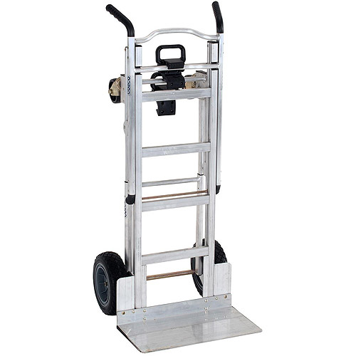 Cosco 3-in-1 Aluminum Hand Truck Assisted Hand Truck Cart with Flat-Free Wheels by Cosco