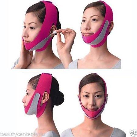 SMYRNA Anti Wrinkle Half Face Slimming Cheek Mask Lift V Face Line Belt Strap (Pink) - Half Face Halloween Tutorial