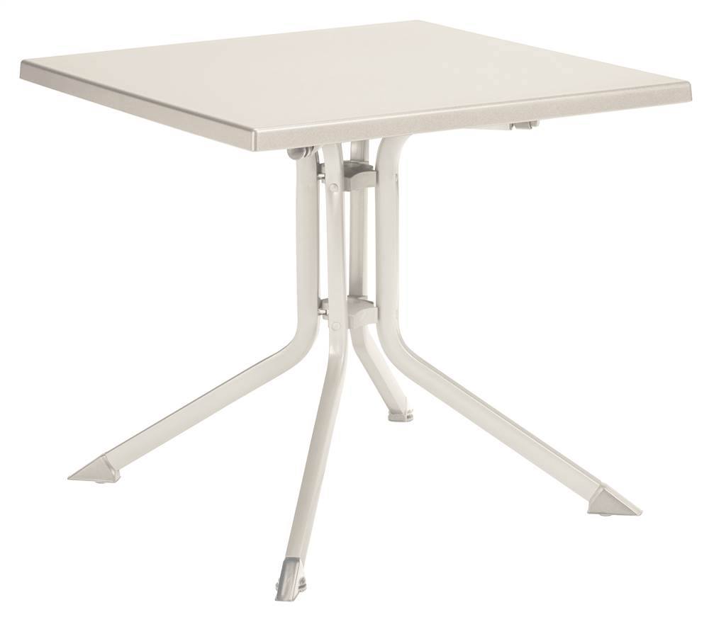 Square Folding Table In White