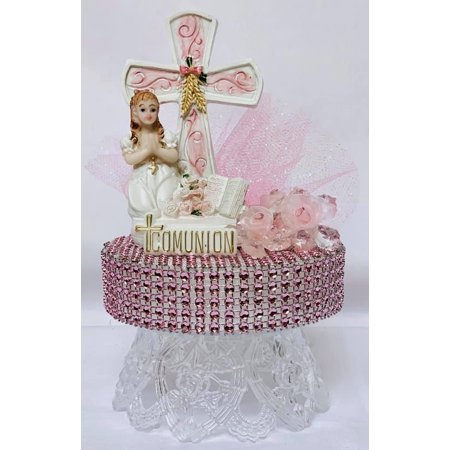 First Communion Spanish Mi Primera Comunion Pink Girls Cake Decoration Cake Topper Gift