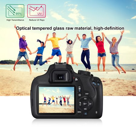 Anti-scratch 9H Tempered Glass Screen Protector Film for Canon EOS 1200D 1300D (Canon 1dx Screen Protector)