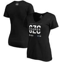 Guangzhou Charge Fanatics Branded Women's Overwatch League Splitter V-Neck T-Shirt - Black