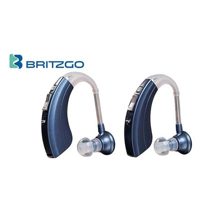 Pack of Two Britzgo Hearing Aid Amplifiers BHA-220, 500hr Battery Life,