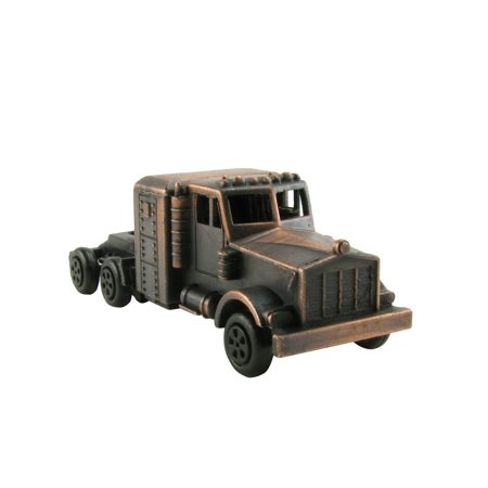 Miniature Tractor Trailer Cab Die Cast Novelty Toy Pencil Sharpener Trucker Gift, What a great gift for a family member or a truck driver away on the road, this die.., By TreasureGurus