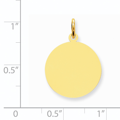14K Yellow Gold Round Disc Charm - image 1 of 2