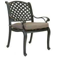 Nassau Cast Aluminum Outdoor Patio Dining Chair