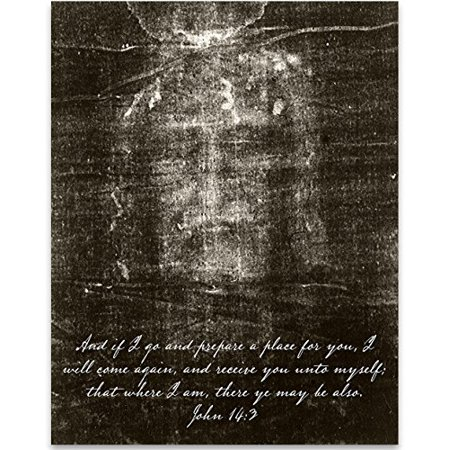 Shroud of Turin - 11x14 Unframed Art Print - Great Gift and Christian Religious Home Wall Art