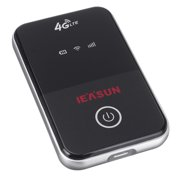 IEASUN 4G Wireless Wifi Router LTE 150Mbps Mobile MiFi Portable Hotspot with SIM Card Slot (Black)