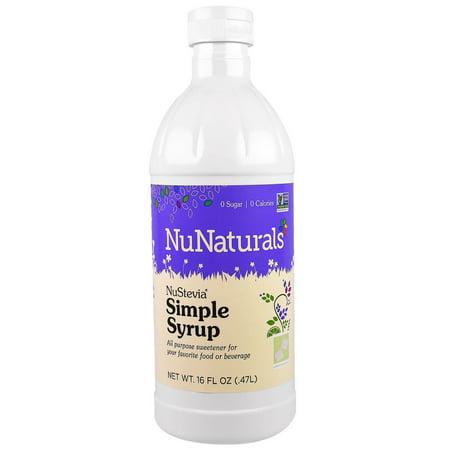 NuNaturals  NuStevia Simple Syrup  16 fl oz   47 l