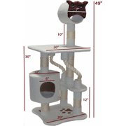 """Majestic Pet Products 49"""" Bungalow Sherpa Cat Tree"""
