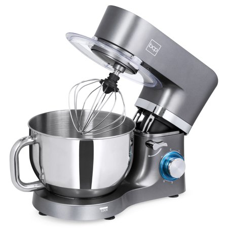 Best Choice Products 6.3qt 660W 6-Speed Multifunctional Tilt-Head Stainless Steel Kitchen Stand Mixer with 3 Mixing Attachments, Scraper Spatula, Splash Guard,