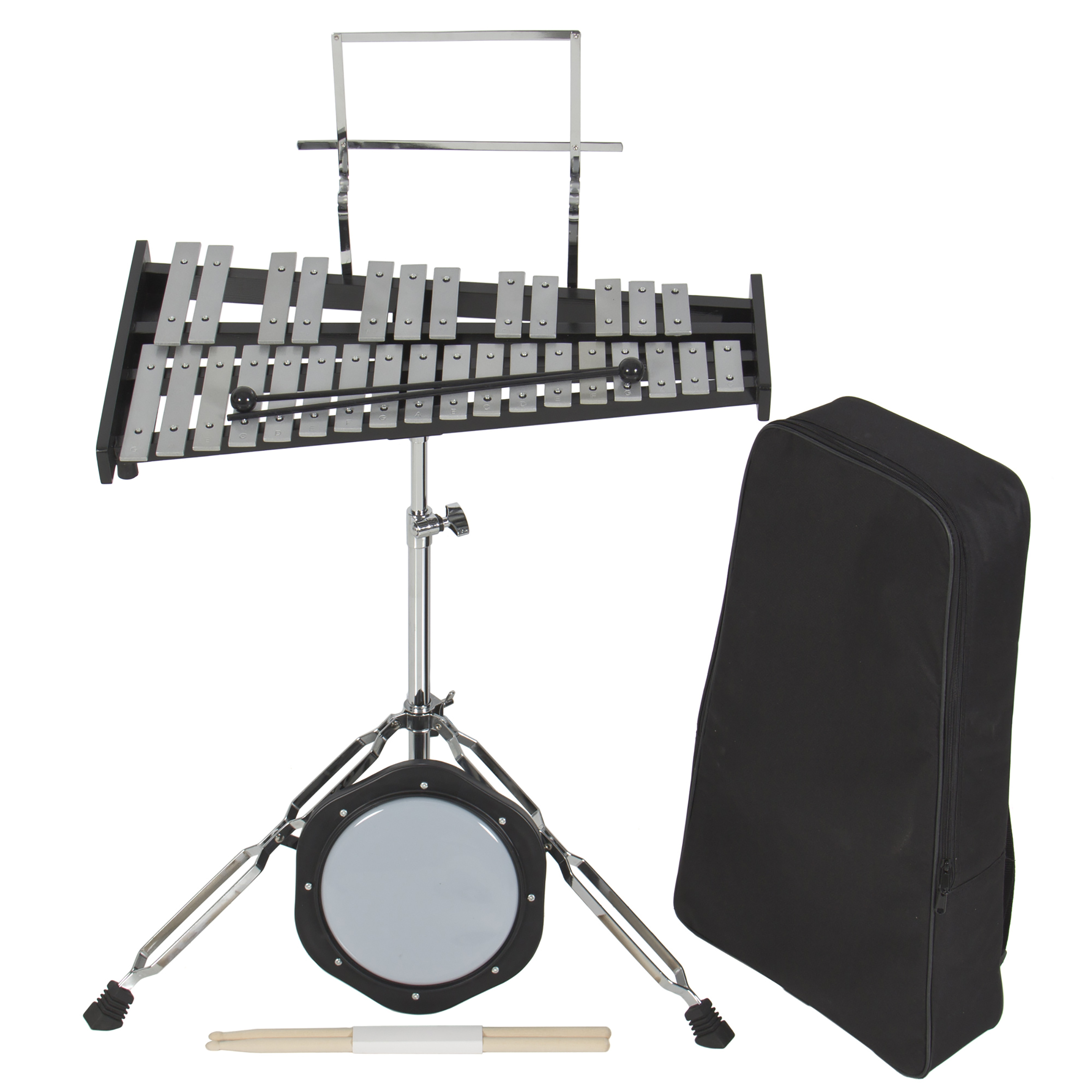 Best Choice Products 30 Notes Percussion Glockenspiel Bell Kit W/ Practice Pad +Mallets+Sticks+Stand