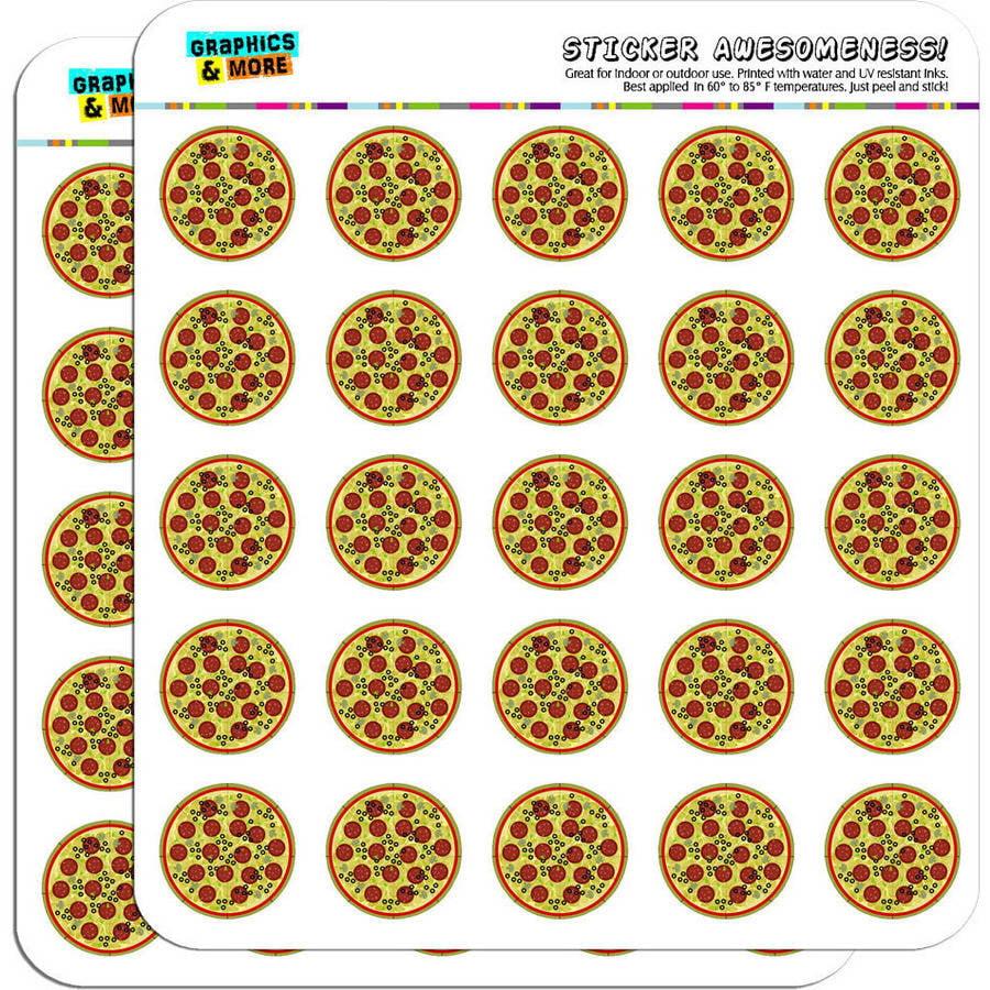 "Pizza 50 1"" Planner Calendar Scrapbooking Crafting Stickers"