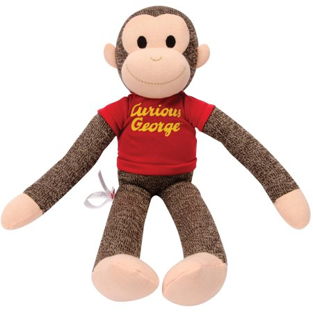Schylling Curious George Sock - Super Sock Monkey