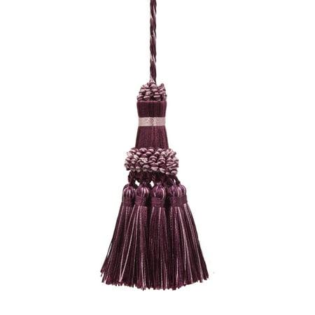 Elegant Dusty Mauve, Dark Plum Key Tassel / 4 Inch tassel, 3.5 Inch Loop Style# NKT - Luscious Lavenders 2927