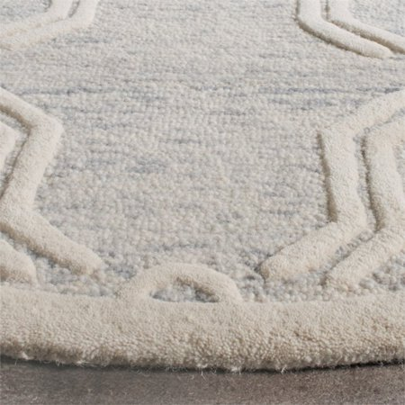Safavieh Cambridge 6' Round Hand Tufted Wool Rug - image 9 de 10