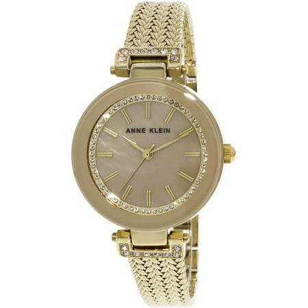 Women's AK-1906TMGB Gold Stainless-Steel Japanese Quartz Fashion Watch Ak Anne Klein Gold Tone Diamond Watch
