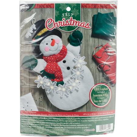 Snowman Snowflake (Bucilla Felt Wall Hanging Applique Kit 16.5