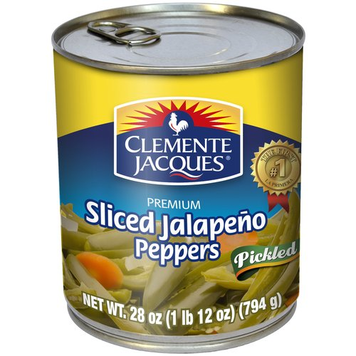 Clemente Jacques Sliced Pickled Jalapeno Peppers, 28 oz