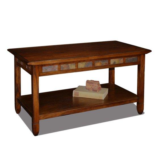 Leick Home Rustic Slate Coffee Table
