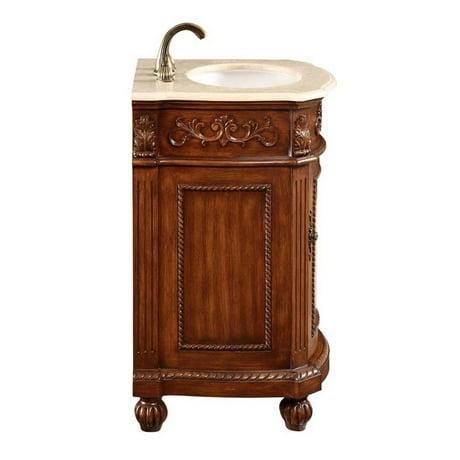 Elegant Lighting Danville 1 Door 24 Single Bathroom Vanity In Brown