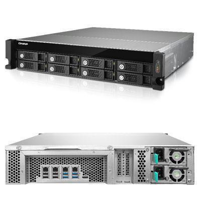 Qnap Inc Qnap 2U 8 Bay Iscsi Nas  Intel Core I3 3 5Ghz Dual Core  4Gb Ram  4Lan  10G Read