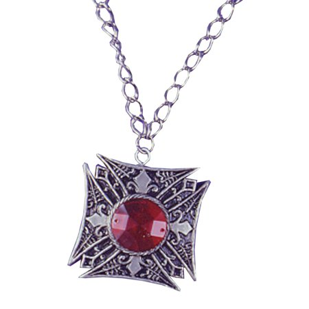 MEDALLION VAMPIRE RED GEM - Halloween Medallion