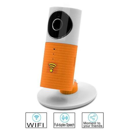 Cleverdog UK Plug Night Vision Wireless Surveillance Wifi Security Camera Orange