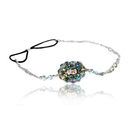 Great Gatsby Peacock Beaded Headband and Look Sheet on All the Different Ways to Wear Including the Inspired Great Gatsby 20's - 20s Headband