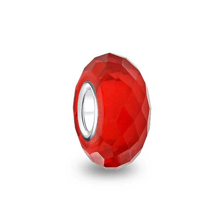 Faceted Translucent Murano Glass Charm Bead For Women For Teen 925 Sterling Silver More Colors - Fox Charm