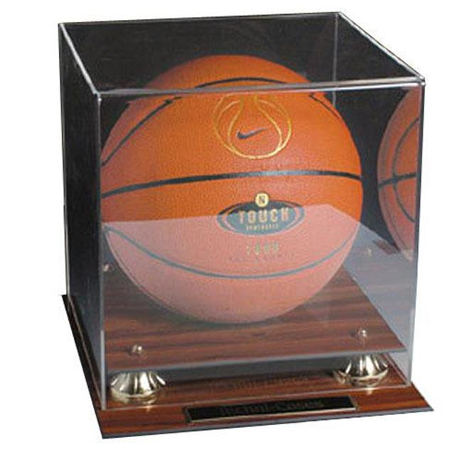 Caseworks International CAS-BB-401-MG Mahogany Finish Basketball Display Case