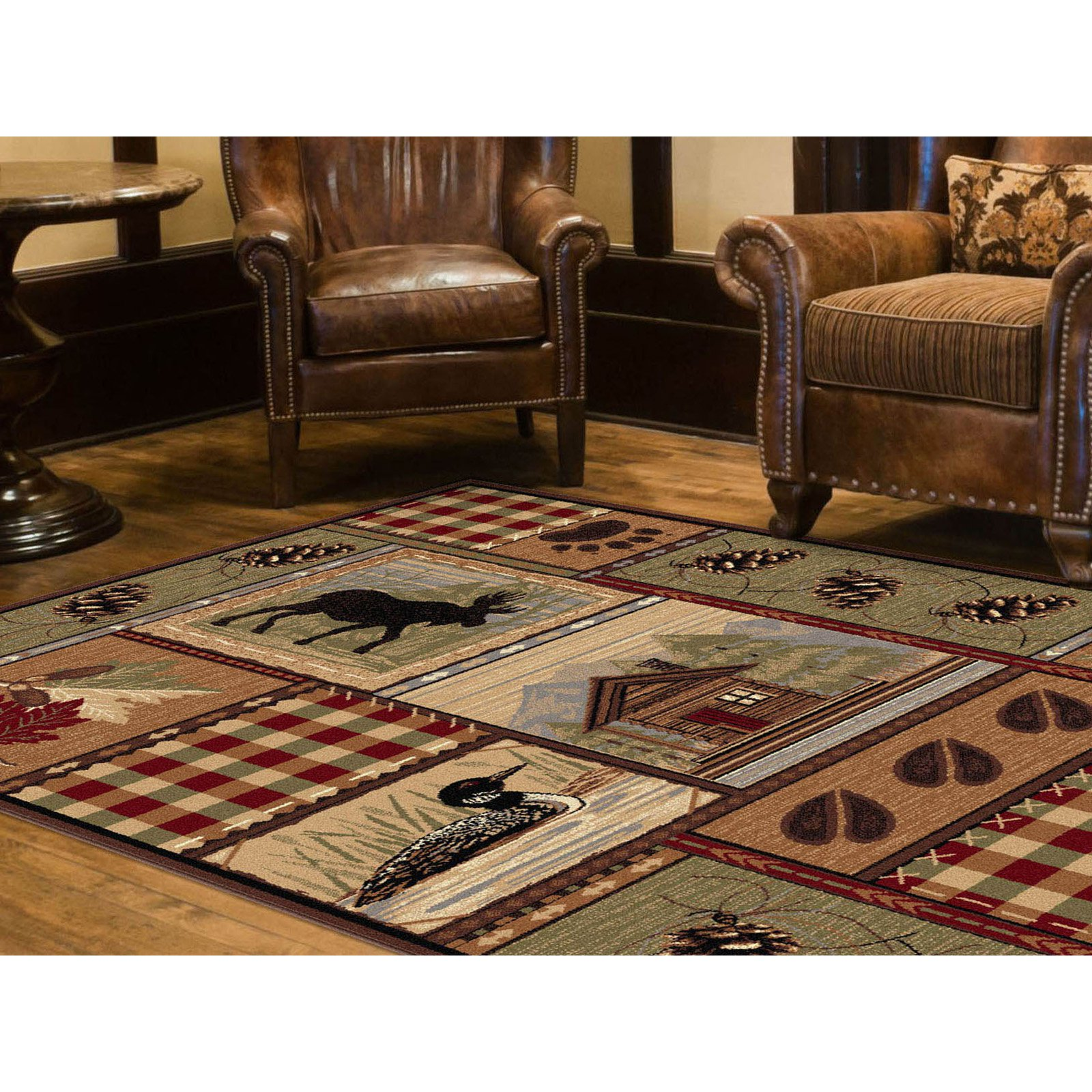 Tayse Nature 6548 Lodge Runner Indoor Area Rug
