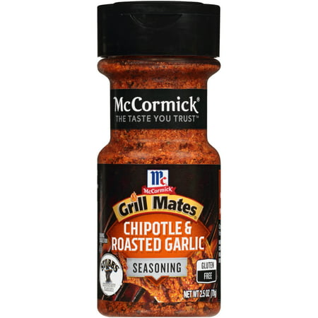 (2 Pack) McCormick Grill Mates Chipotle & Roasted Garlic Seasoning, 2.5 oz