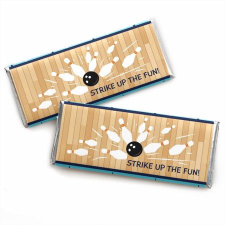 Bowling Party Favors (Strike Up the Fun - Bowling - Candy Bar Wrapper Birthday Party or Baby Shower Favors - Set of)