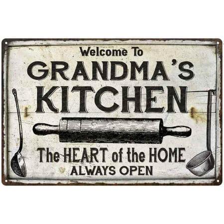 Finished Kitchen (GRANDMA's Kitchen Farmhouse Sign 8 x 12 Matte Finish Metal 108120033003)