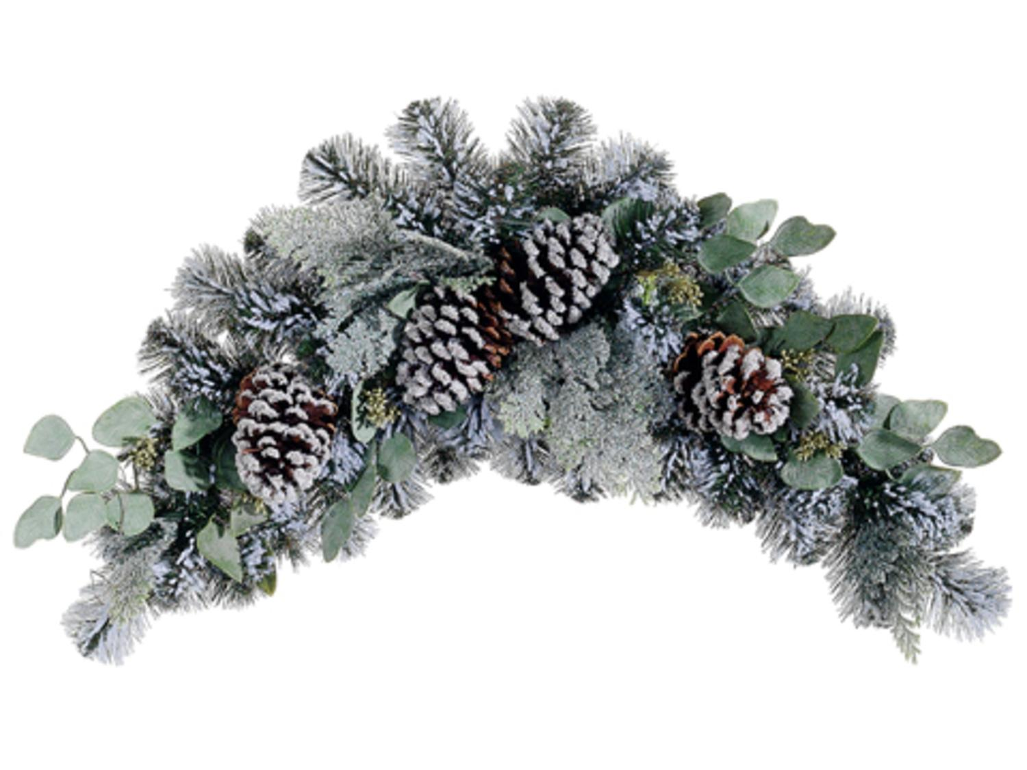 "32"" Flocked Pine Eucalyptus And Pine Cone Artificial"