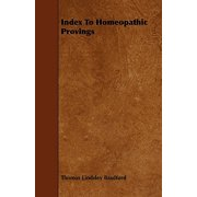 Index to Homeopathic Provings