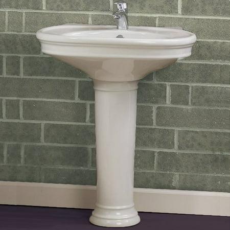 Decolav Pedestal Ceramic 34 Pedestal Bathroom Sink Walmartcom