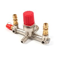 Anauto Pressure Regulator Valve,Double Outlet Tube Alloy Air Compressor Switch Pressure Regulator Valve Fit Part,Air Compressor Switch