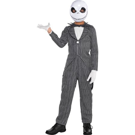 The Nightmare Before Christmas Jack Skellington Costume, Boys, Medium, with Accs - Boys Jack Skellington Costume