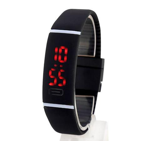 Men Women Fashion LED Watch Digital Bracelet Wrist Watch