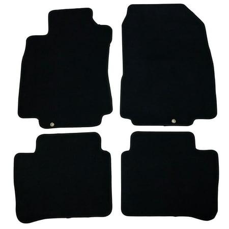 Fits 07-12 Nissan Versa Black Nylon Floor Mats Carpets 4 PCS