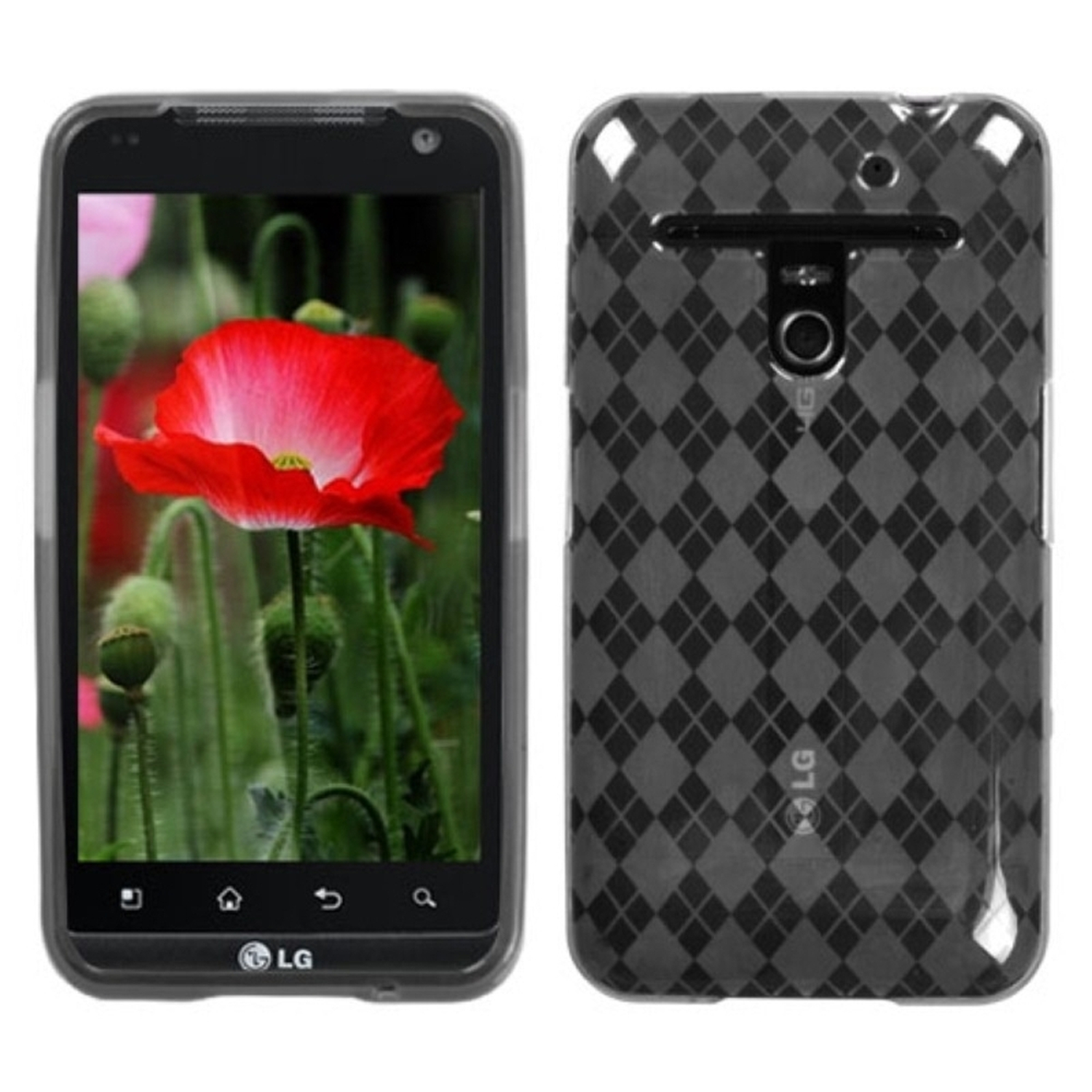 Insten Smoke Argyle Candy Skin Case for LG: VS910 (Revolution), Esteem