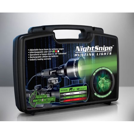 NightSnipe Class-2 NS550 Extreme RED, GREEN, & WHITE LEDs Hunting Light Kit